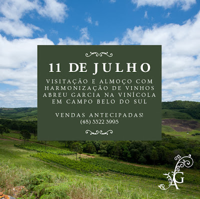 Almoço harmonizado na vinícola Abreu Garcia